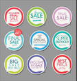 modern sale banners and labels collection 08 vector image vector image