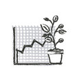 monochrome blurred silhouette of growing and vector image vector image