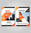 Orange black annual report Leaflet Brochure set vector image