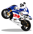 Panda motorcycle Racing vector image