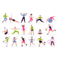 people performing sports activities vector image