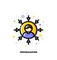 personalization social media marketing icon vector image vector image