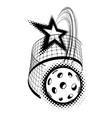 pickleball with star isolated vector image