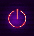 power button neon sign vector image