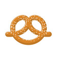 pretzel with sesame seeds isolated german vector image