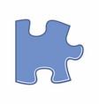 puzzle piece vector image