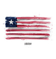 realistic watercolor painting flag of liberia vector image vector image
