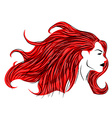 Red hair woman vector image vector image