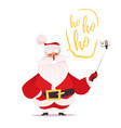 santa claus making selfie and laughing vector image