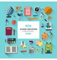 School education background in flat style vector image