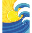 sea waves poster of landscape vector image