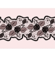 Seamless lace ribbon with abstract floral pattern vector image vector image
