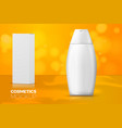 shampoo bottle paper box with reflection vector image vector image