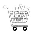 shopping cart with credit card vector image vector image