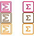 sigma icon isolated on background vector image vector image
