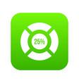 sign 25 load icon digital green vector image vector image