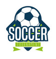 soccer logo sport vector image vector image
