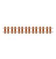straight railway line vector image