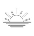sunrise sunset line icon vector image