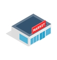 Supermarket building icon isometric 3d style vector image vector image