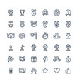 thin line icons set with award prize vector image
