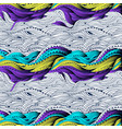 waves gradient three color vector image