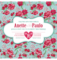Wedding Vintage Invitation Card Floral Pattern