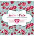 Wedding Vintage Invitation Card Floral Pattern vector image vector image