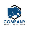 panther or tiger logo vector image