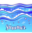 summer at seaside stylized of waves vector image
