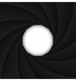 Black shutter aperture with white opening vector image