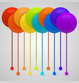 colored paint drips background vector image