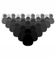 crowd of people icon vector image