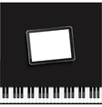 modern computer tablet on piano vector image