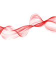 abstract red wave background set of wavy lines vector image