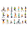 active people healthy lifestyle outdoor vector image