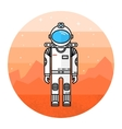 Astronaut in space Human mission to Mars vector image vector image