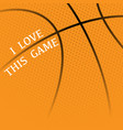 basketball orange background vector image vector image