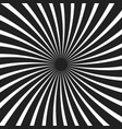 black and white spiral ray background vector image