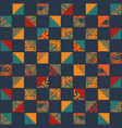 boho seamless squares set vector image vector image
