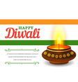 Card design of traditional Indian festival Diwali vector image