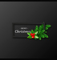 christmas design realistic black frame vector image vector image