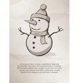 Christmas snowman Vintage Label Logo Frame vector image