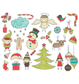 collection cute children drawings christmas vector image