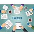 Concept of teamwork vector image