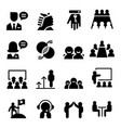 consultant icon set vector image vector image