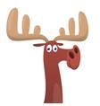 cool cartoon moose vector image vector image