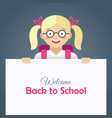 cute happy little girl in glasses vector image vector image