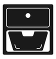 drawer icon simple style vector image vector image