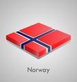 European flags set - Norway vector image